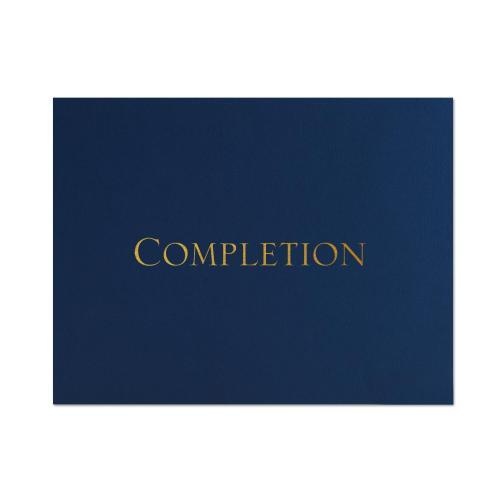 Completion Linen Certificate Folders