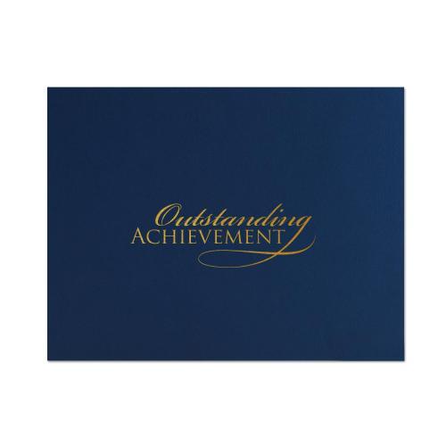 Outstanding Achievement Linen Certificate Folders