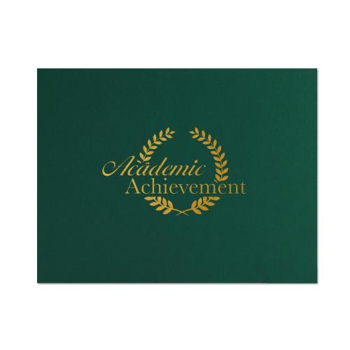 Academic Achievement Linen Certificate Folders