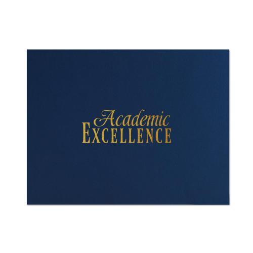Academic Excellence Linen Certificate Folders