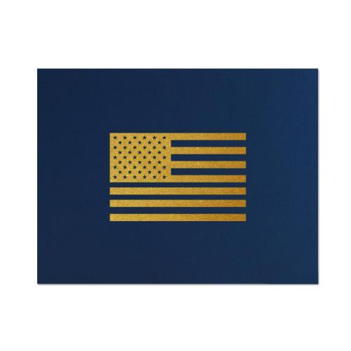 American Flag Linen Certificate Folders