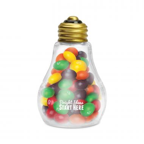 Bright Ideas Light Bulb with Skittles