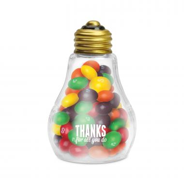 Thanks for All You Do Light Bulb with Skittles