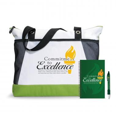 Commitment to Excellence Motivational Tote Gift Set