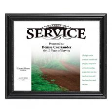 Closeout and Sale Center - Black Wood Certificate Frame