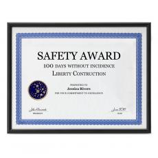 Closeout and Sale Center - Black Aluminum Certificate Frame