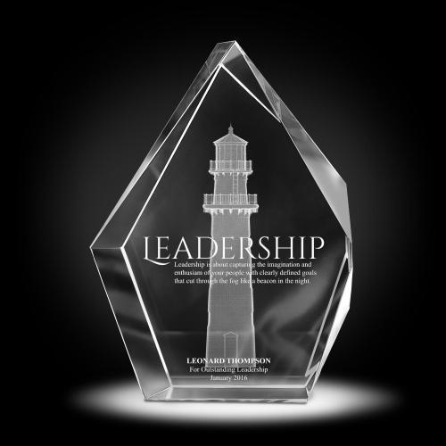 Leadership Lighthouse 3D Crystal Diamond Award