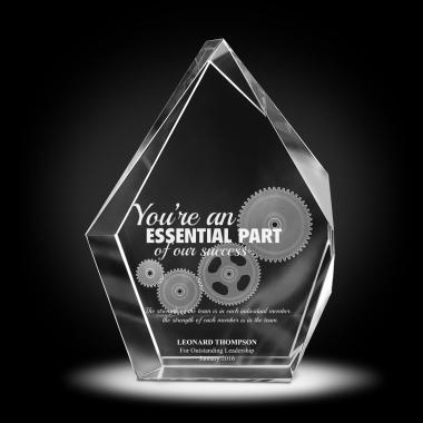 You're An Essential Part 3D Crystal Diamond Award