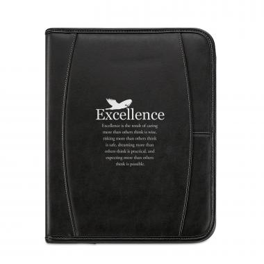 Excellence Eagle Leather Padfolio