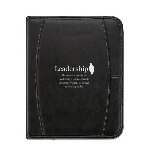 Leadership Eagle Leather Padfolio