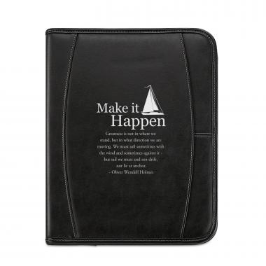 Make It Happen Leather Padfolio