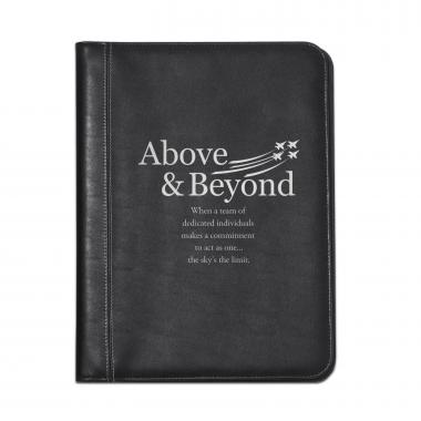 Above & Beyond Jets Leather Padfolio