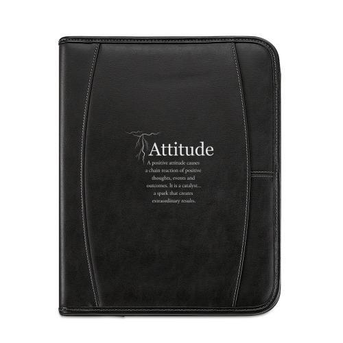 Attitude Lightning Leather Padfolio