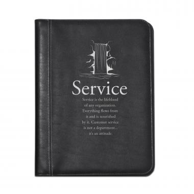 Service Waterfall Leather Padfolio