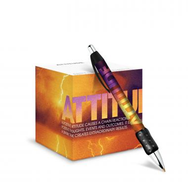Attitude Lightning Self-Stick Note Cube