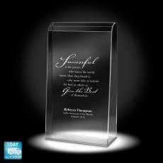 Colored Glass and Crystal Awards - Empire Crystal Award