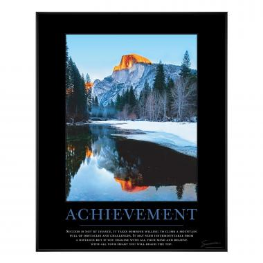Achievement Mountain Motivational Poster