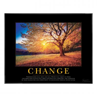 Change Tree Motivational Poster