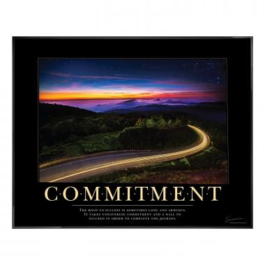 Commitment Highway Motivational Poster