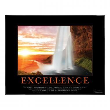 Excellence Waterfall Motivational Poster