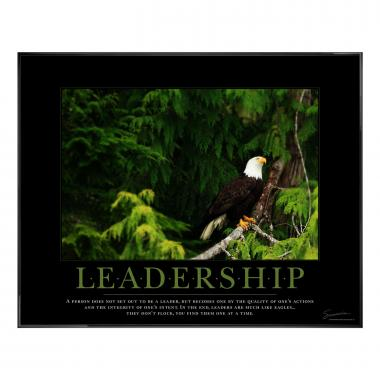 Leadership Eagle Tree Motivational Poster
