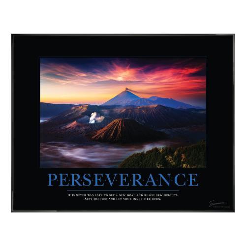Perseverance Volcano Motivational Poster