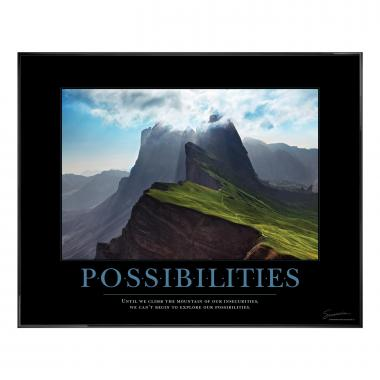 Possibilities Mountain Motivational Poster