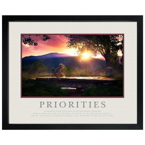 Priorities Bridge Motivational Poster