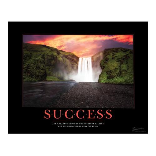 Success Waterfall Motivational Poster