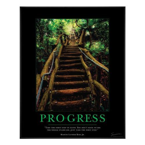 Progress Staircase Motivational Poster