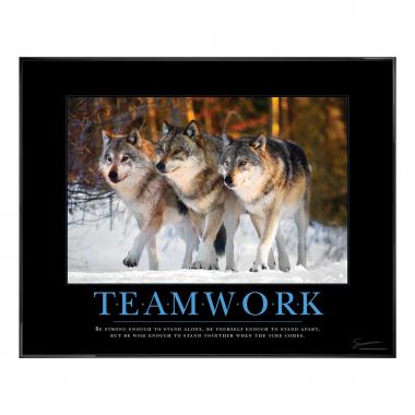 Teamwork Wolves Motivational Poster