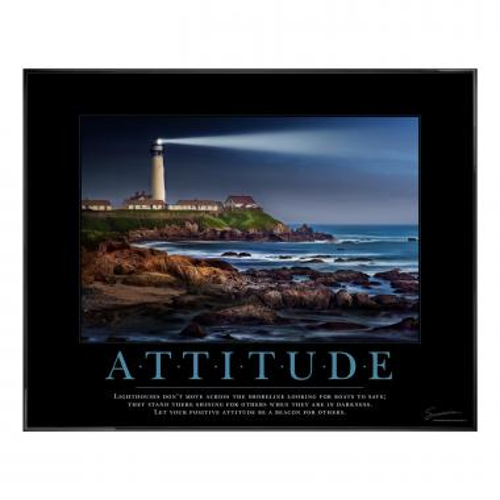 Attitude Lighthouse Motivational Poster