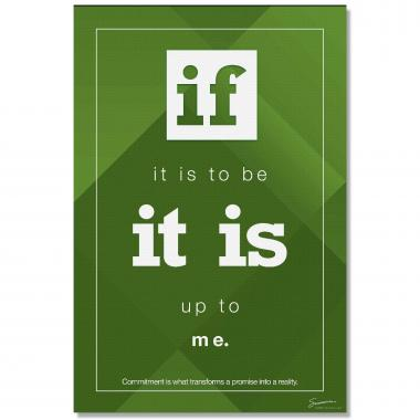 If It Is To Be - Culture Builder Wall Art