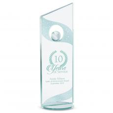 Colored Glass and Crystal Awards - Leadership Globe Glass Award
