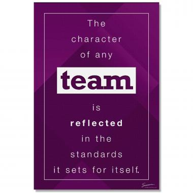 Character of Any Team - Culture Builder Wall Art
