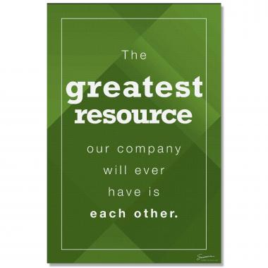 Greatest Resource - Culture Builder Wall Art