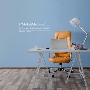 Definition of Excellence Vinyl Wall Decal