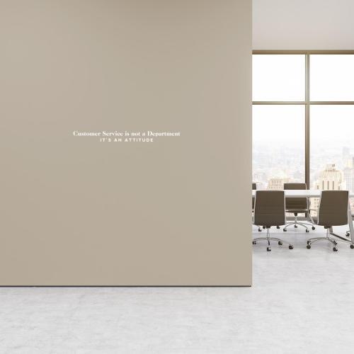 Customer Service is an Attitude Vinyl Wall Decal