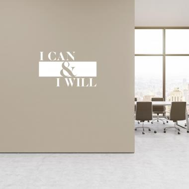 I Can & I Will Vinyl Wall Decal