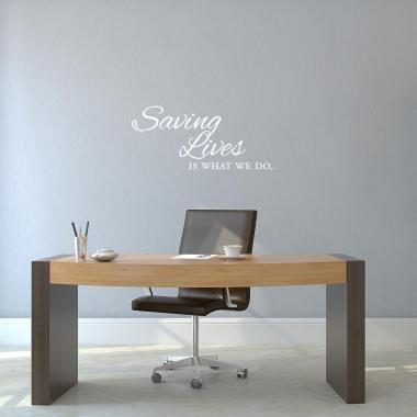 Saving Lives Vinyl Wall Decal