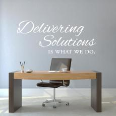 New Products - Delivering Solutions Vinyl Wall Decal
