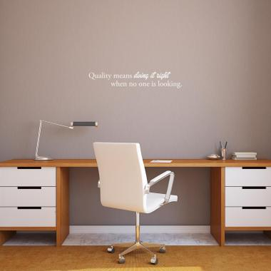 Quality Means Vinyl Wall Decal