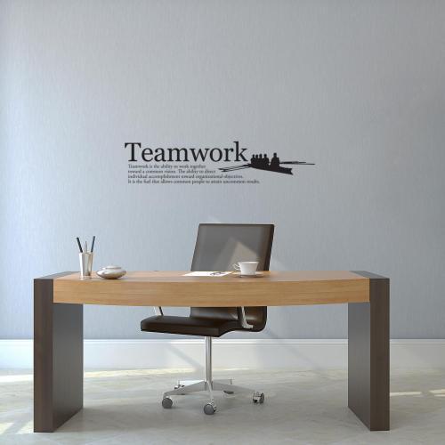 Teamwork Rowers Vinyl Wall Decal