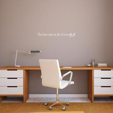 The Best Way Vinyl Wall Decal