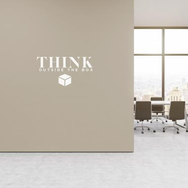 Think Outside the Box Vinyl Wall Decal