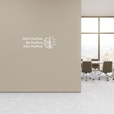 Think Positive Vinyl Wall Decal