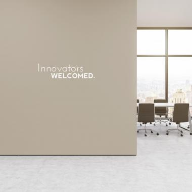 Innovators Welcome Vinyl Wall Decal