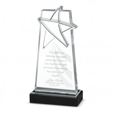 Driven to Shine Star Acrylic Award