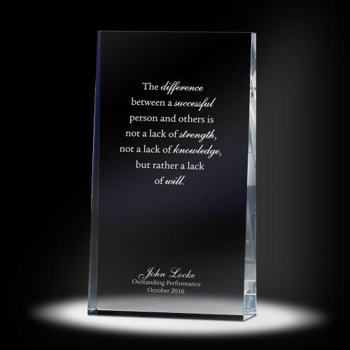Leadership Wedge Glass Award