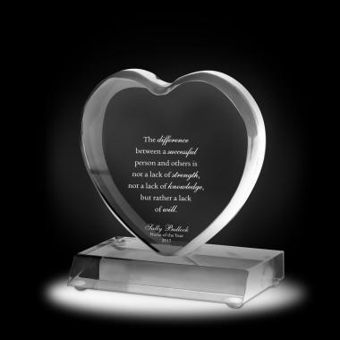 Exceptional Big Heart Acrylic Award